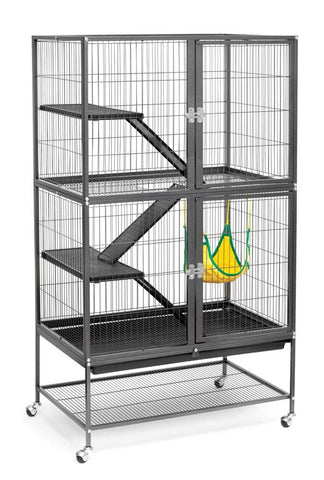Prevue Pet Products Feisty Ferret Home on Casters Black 31x21x54