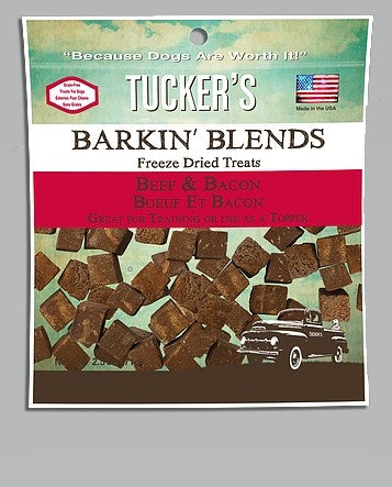Tucker  Dog Barkin' Freeze-Dried Beef Bacon 2.5OZ