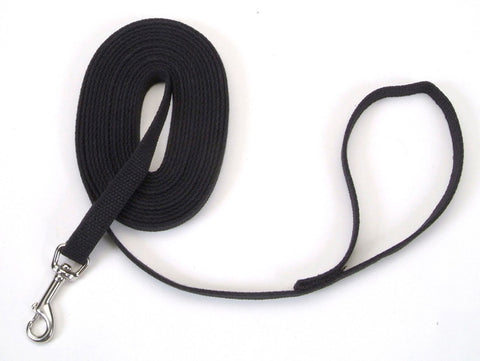 Coastal Train Right! Cotton Web Training Leash Black 5/8X30ft