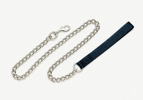 Coastal Titan Chain Leash with Nylon Handle Black Fine 2.0mm 4ft