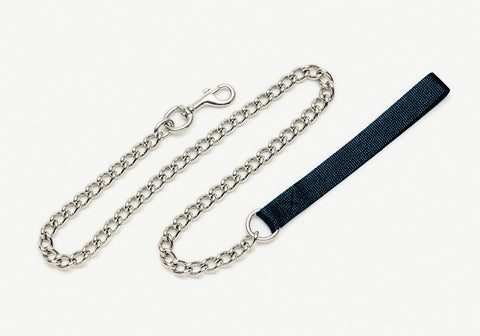 Coastal Titan Chain Leash with Nylon Handle Black Fine 4.0mm 4ft
