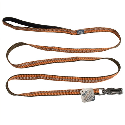 "Coastal Pet Products K9 Explorer  Reflective Leash with Scissor Snap, 1""x6' Campfire Orange"