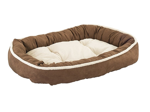 "Ethical Pet Shearling Oval Cuddler 31"" Chocolate"