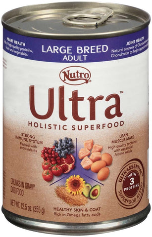 ULTRA Adult Large Breed Canned Dog Food 12.5 Ounces (Pack of 12)