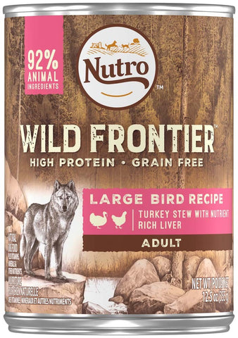 NUTRO Wild Frontier Large Bird Turkey Stew Canned Dog Food 12ea/12.5oz