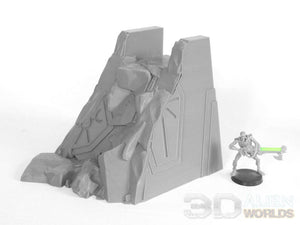Necrontyr Tombcity Wall Set: Damaged Section