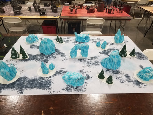Arctic Tabletop Collection v2 Wargaming Terrain Warhammer Terrain