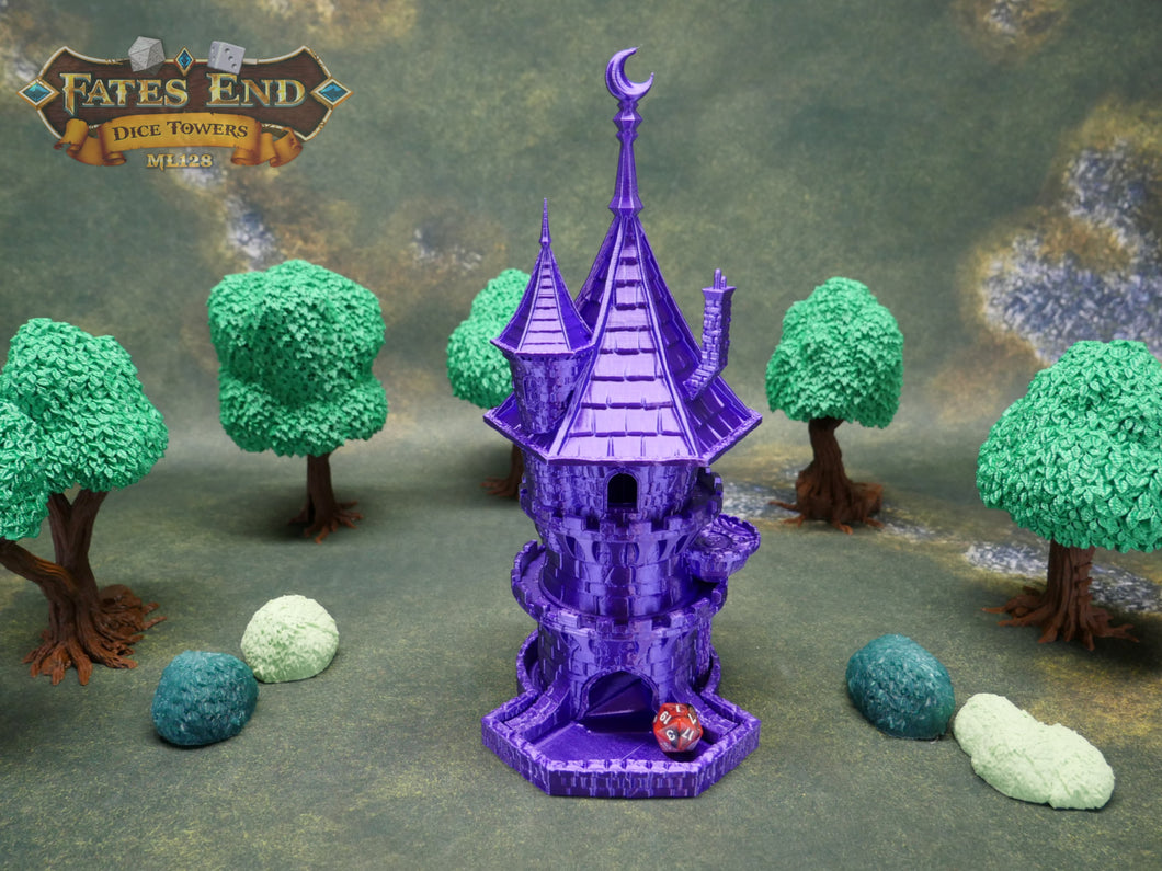 Wizard Dice Tower For Dice Games Like D&D