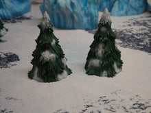 Load image into Gallery viewer, Pine Trees Snowy Wargaming Terrain Warhammer Terrain