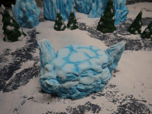 Load image into Gallery viewer, Icy Terrain: Ice and Snow Scatter Snow and Ice Hill Wargaming Terrain Warhammer Terrain
