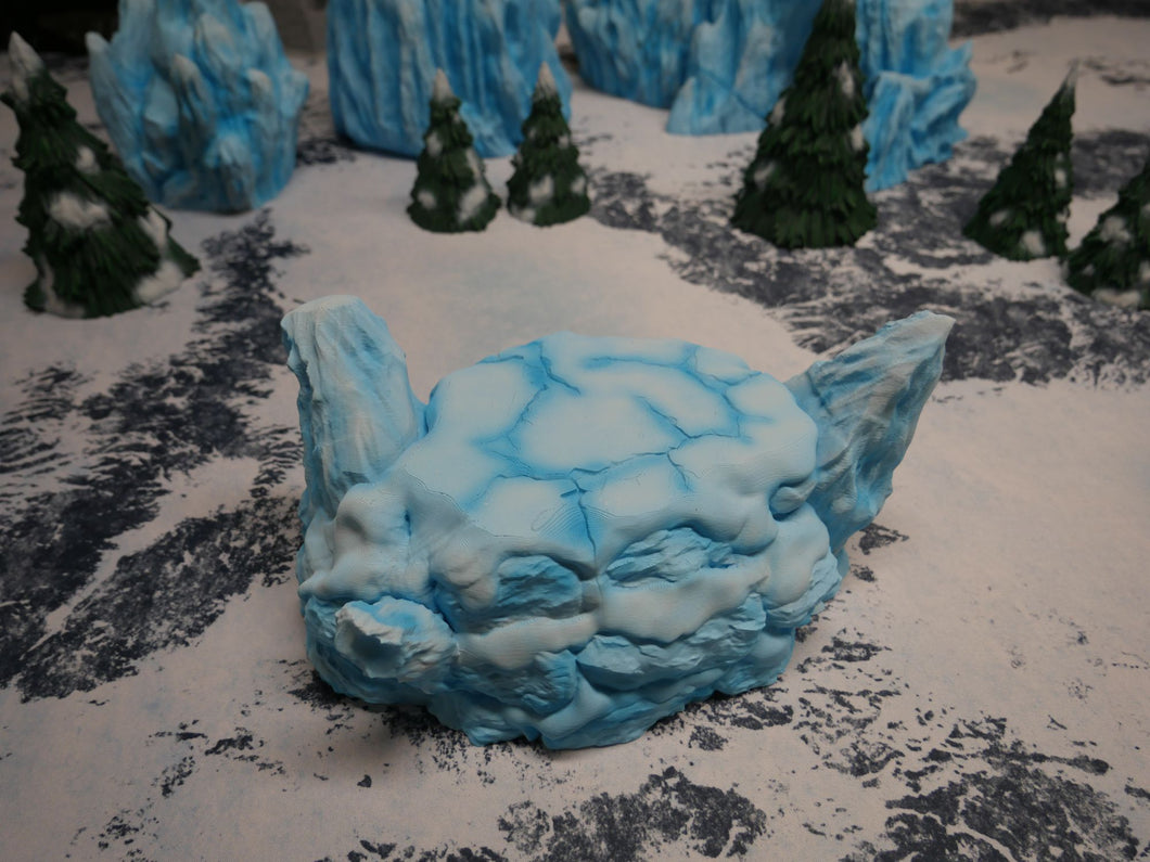 Icy Terrain: Ice and Snow Scatter Snow and Ice Hill Wargaming Terrain Warhammer Terrain