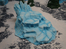 Load image into Gallery viewer, Icy Terrain: Ice and Snow Scatter Ice Hill Wargaming Terrain Warhammer Terrain