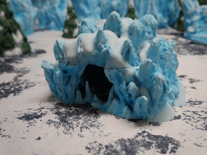 Icy Terrain: Ice and Snow Scatter Ice Cave Wargaming Terrain Warhammer Terrain