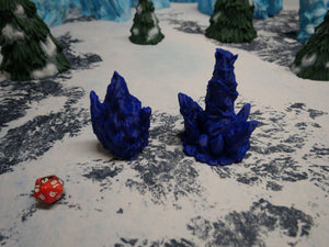 Icy Terrain: Ice and Snow Scatter Ice Totems