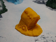 Load image into Gallery viewer, Broken Down Snowy Wagon Wargaming Terrain Warhammer Terrain