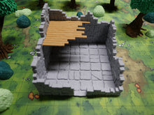 Load image into Gallery viewer, Ruined Tower 6x6 Wargaming Terrain Warhammer Terrain