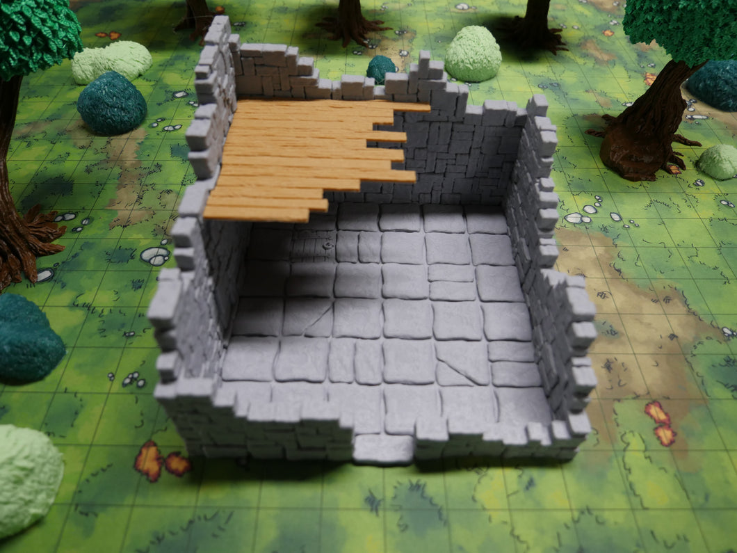 Ruined Tower 6x6 Wargaming Terrain Warhammer Terrain