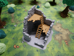 Ruined Tall Tower Dirt Floor Wargaming Terrain Warhammer Terrain