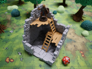 Ruined Tall Tower Stone Floor Trapdoor
