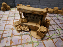 Load image into Gallery viewer, 3d Printed Tabletop Market Stall Wargaming Terrain Warhammer Terrain