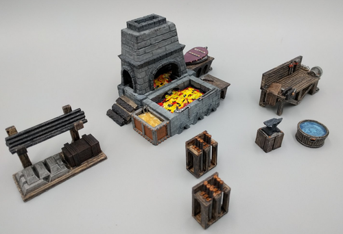 Blacksmith Forge and Workshop Wargaming Terrain Warhammer Terrain