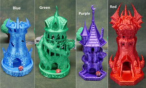 Fighter Dice Tower | Multiple Colors Available