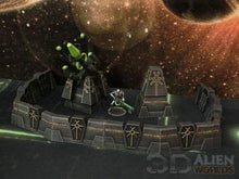 Load image into Gallery viewer, Necrontyr Defense Walls Gun Active Wargaming Terrain Warhammer Terrain | Necron Terrain