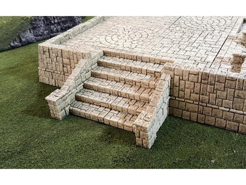 Tikal Temple Grounds: Stairs Wargaming Terrain Warhammer Terrain