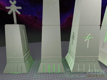 Load image into Gallery viewer, Necrontyr Obelisks Set: Tops