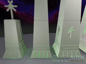 Necrontyr Obelisks Set: Tops