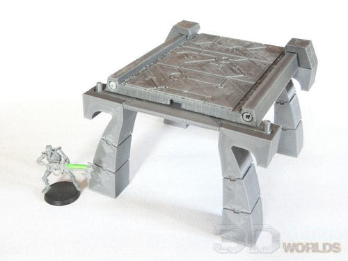 Necrontyr Pathway & Bridge Set: Bridge Supports Wargaming Terrain Warhammer Terrain | Necron Terrain
