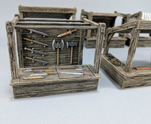 Load image into Gallery viewer, Hero's Hoard Small Market Stall Wargaming Terrain Warhammer Terrain