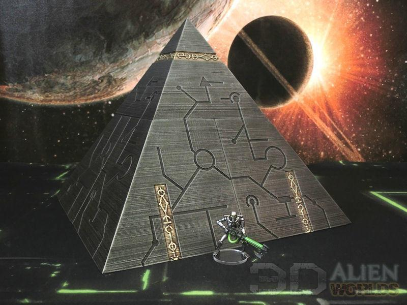Necrontyr Pyramid: Middle Level Corners Wargaming Terrain Warhammer Terrain