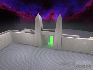 Necrontyr Tombcity Wall Set: Straight Section