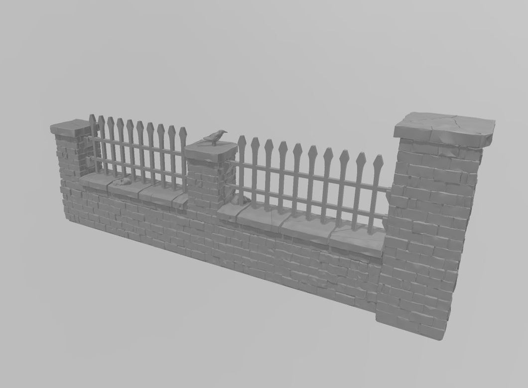 Cemetery Double Wall Section Wargaming Terrain Warhammer Terrain