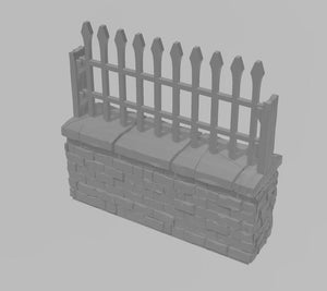 Cemetery Single Wall Section Wargaming Terrain Warhammer Terrain