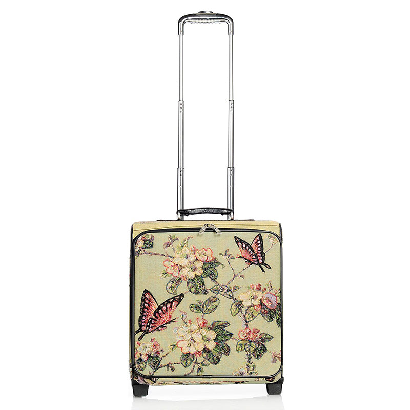 Butterfly Hand beaded Rolling Suitcase - Mellow World