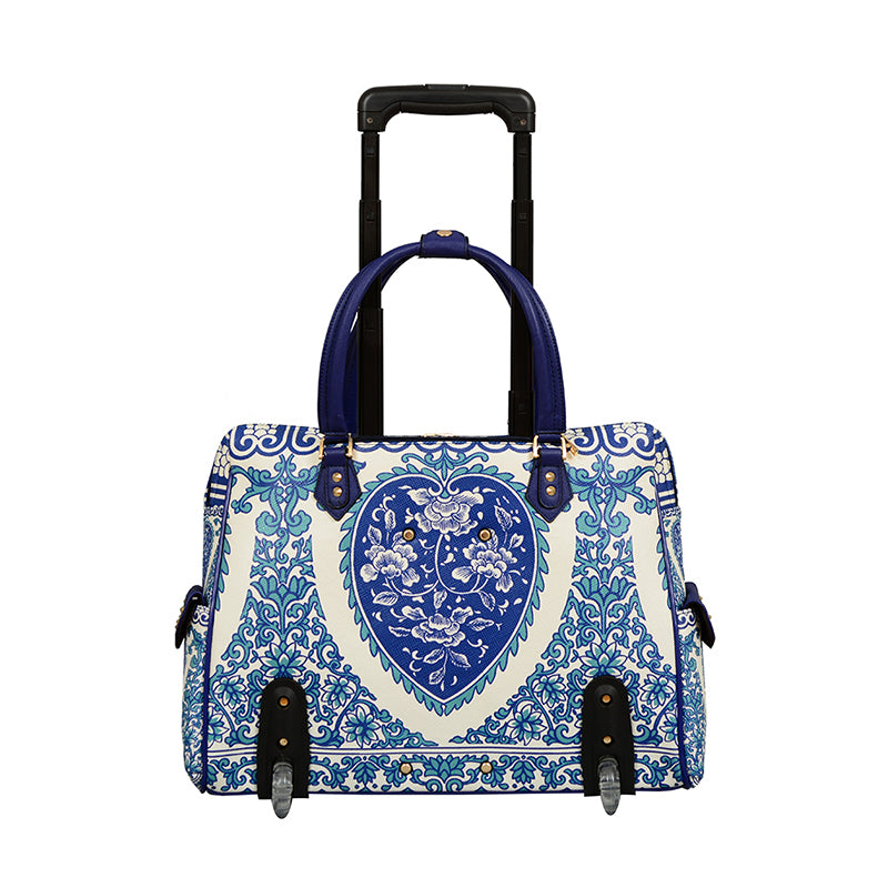 Porcelain Rolling Floral Laptop Tote - Mellow World