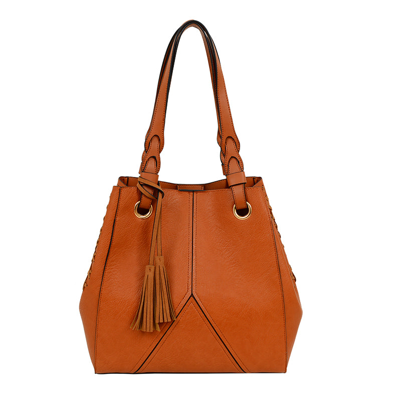 Amberly Whipstitch Tote - Mellow World