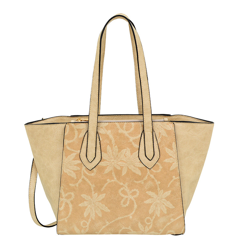 Marissa Floral Embossed Tote - Mellow World