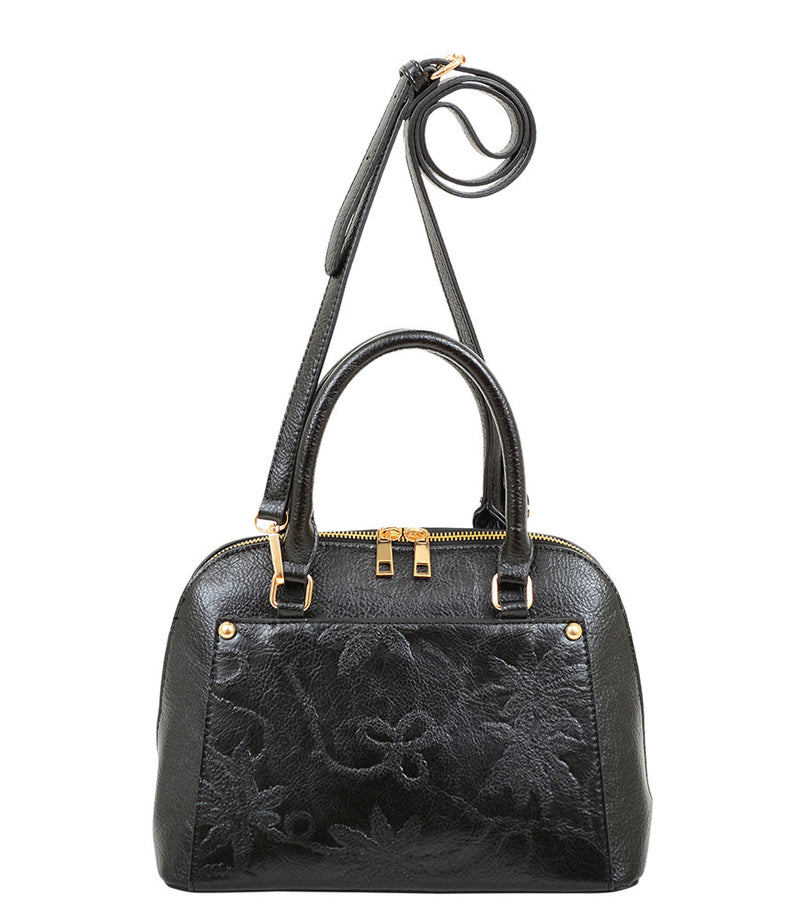 Risa Floral Embossed Satchel - Mellow World