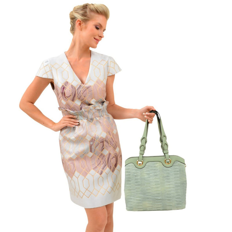 Korrin Pleated Tote - Mellow World