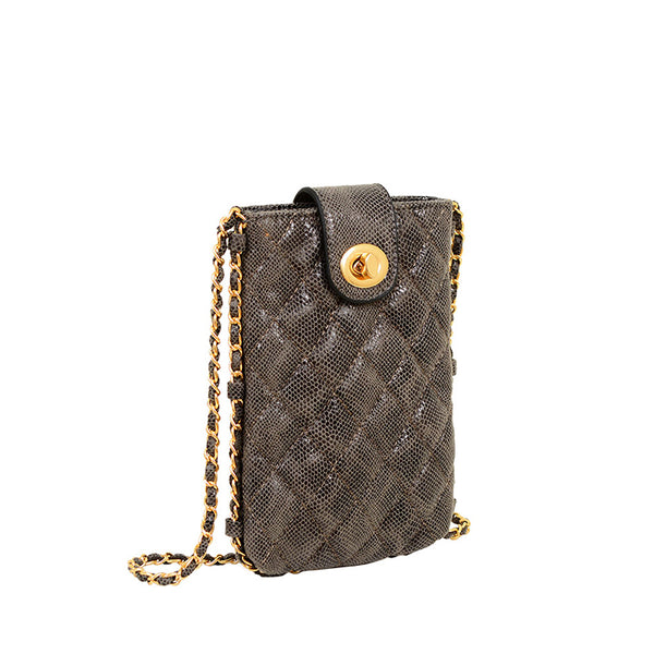 Lexia Snakeskin Cell Phone Bag Crossbody - Mellow World