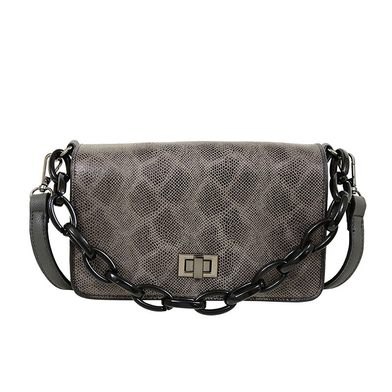 Cassi Snakeskin Crossbody - Mellow World