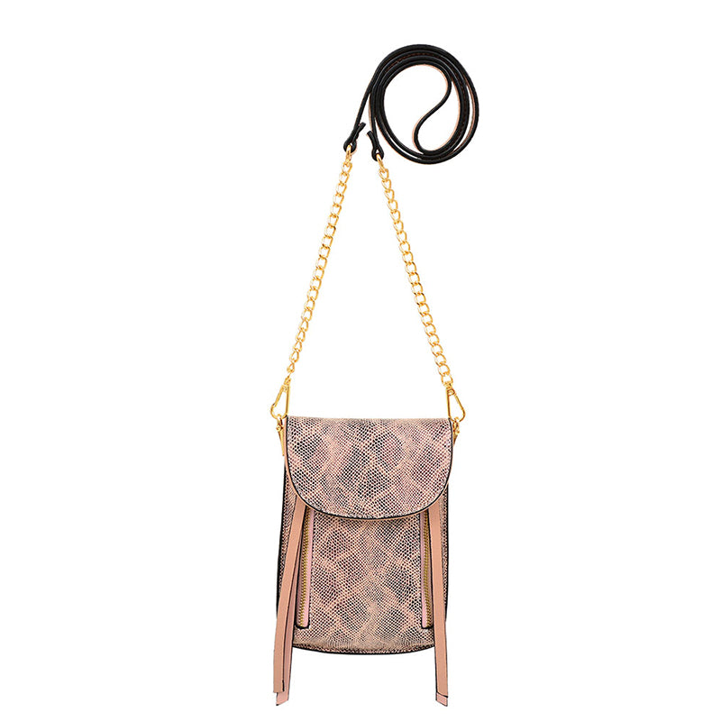 Lizzi Snakeskin Cell Phone Bag Crossbody - Mellow World