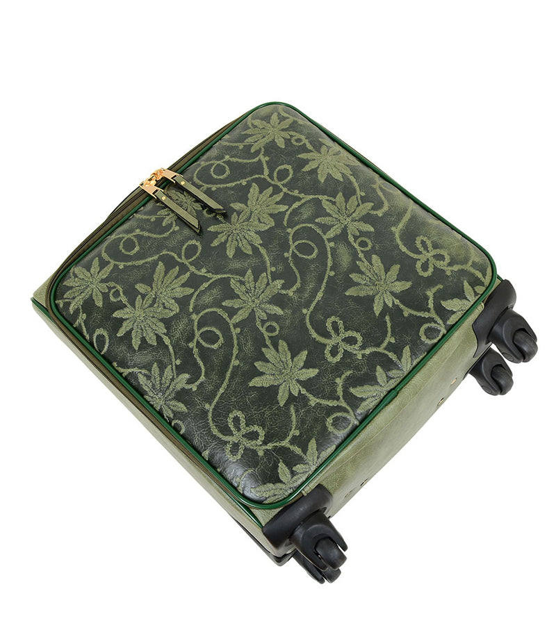 Risa Floral Embossed Suitcase - Mellow World