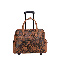 Risa Floral Embossed Laptop Tote - Mellow World