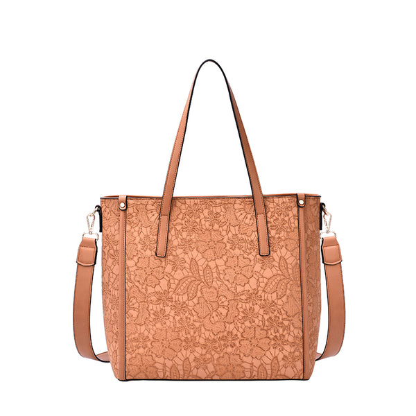 Holly Floral Stitch Vertical Crossbody - Mellow World