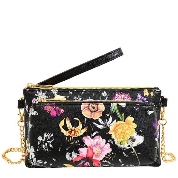 Evie Floral Wristlet / Crossbody - Mellow World
