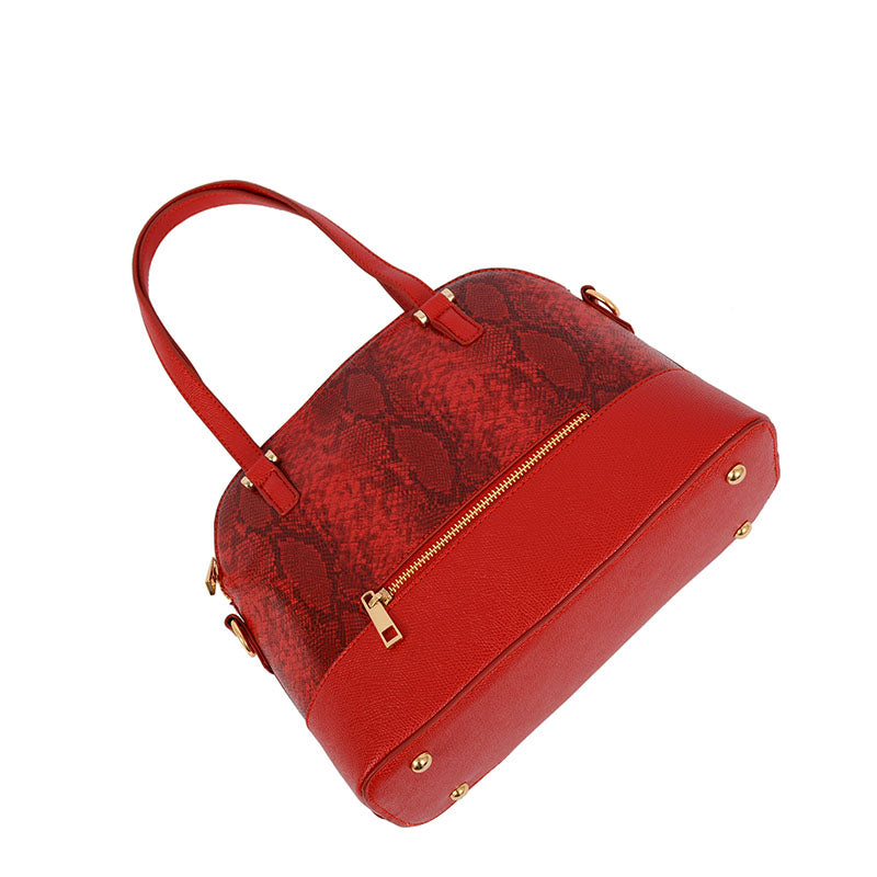 Jacki Snakeskin Satchel - Mellow World